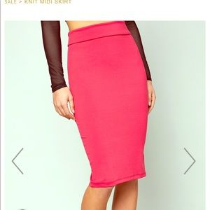 Bebe midi skirt in green! Not red